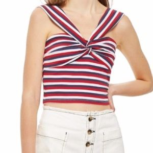 Topshop Stripe Knot Top